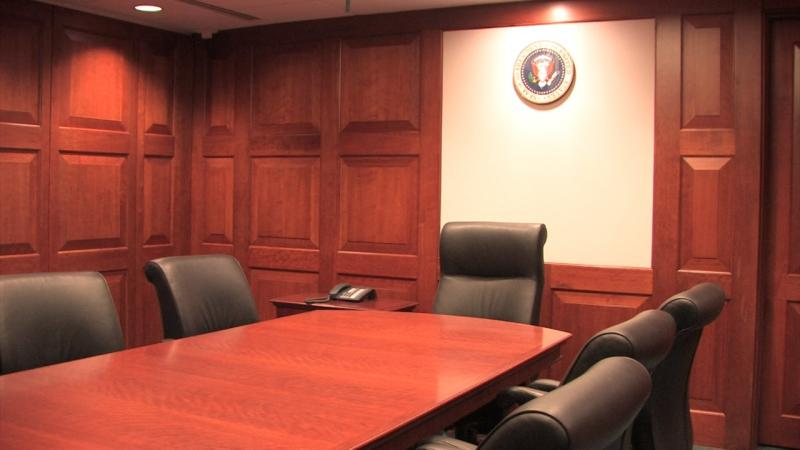The Situation Room has been reconstructed at the George W. Bush Presidential Center.