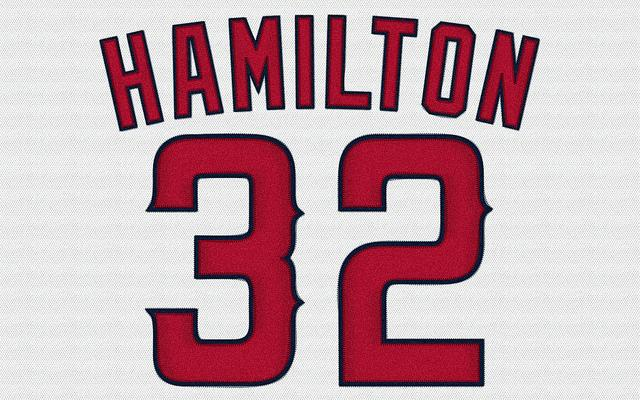 Former Ranger Josh Hamilton returned to Texas Friday wearing a Los Angeles Angels uniform.