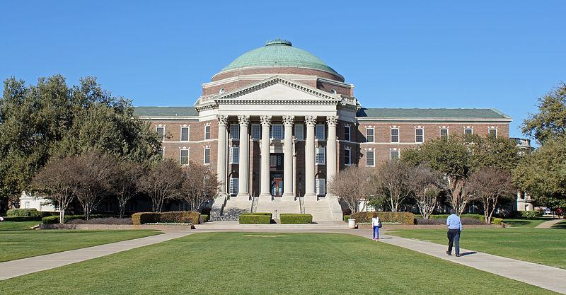 Dallas Hall on the Southern Methodist University Campus in Dallas, Texas.