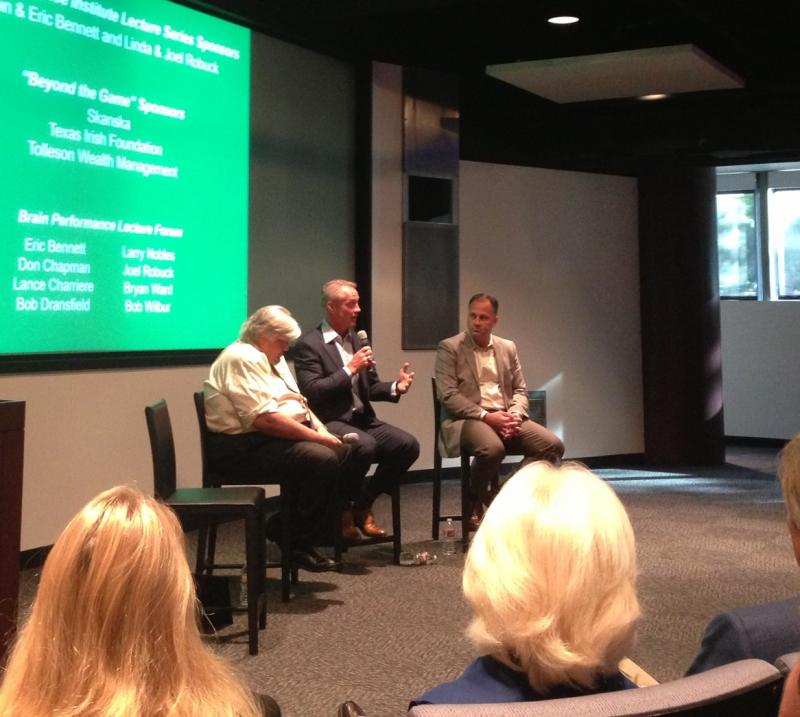 Former Dallas Cowboy Daryl Johnston spoke about his experience with concussions at the Center For BrainHealth.