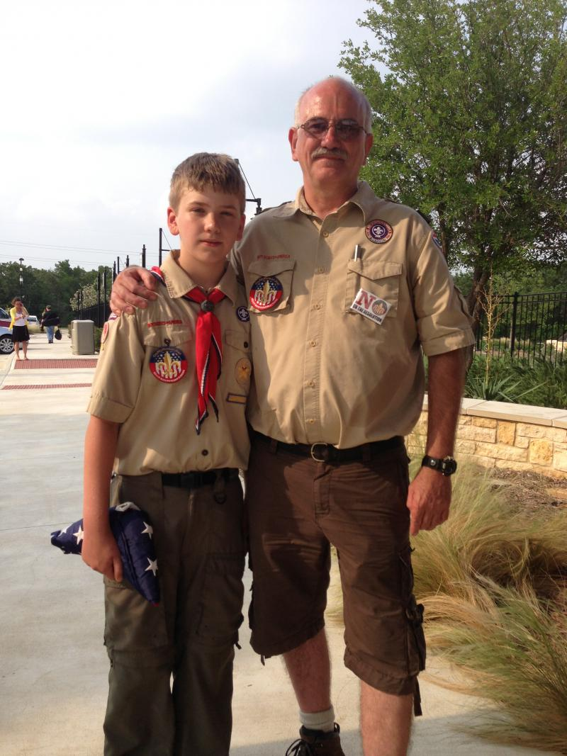 David Metcalf and his son, Sean, 13, are dissapointed that the Boy Scouts of America decided to end the ban on openly gay youth.