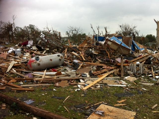 Dozens of homes were flattened by the tornado with winds up to 200 mph.