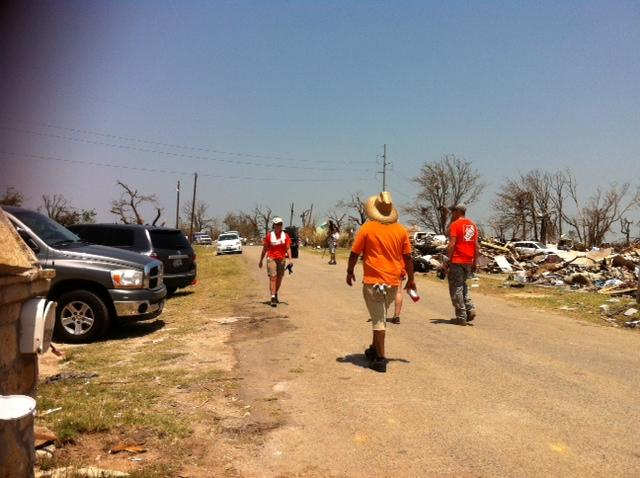 Relief work of volunteers in the Rancho Brazos neighborhood is critical to the clean up after the EF 4 tornado, May 22.