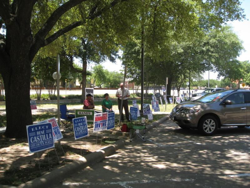The last day of early voting in Irving before Saturday's election