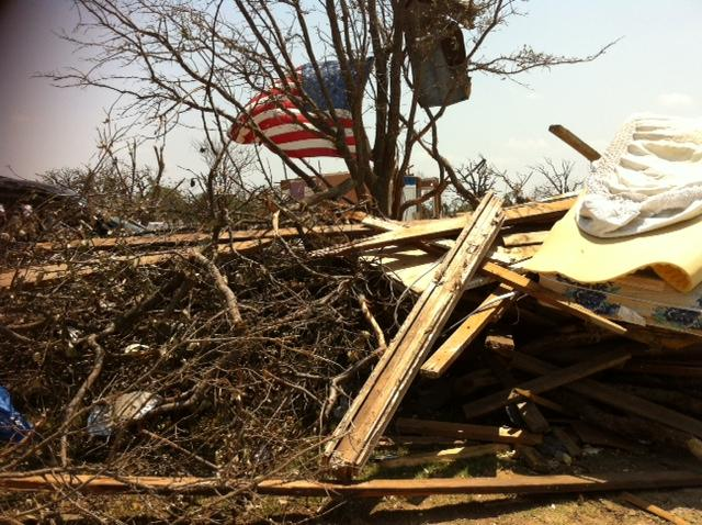 Dozens of volunteers are clearing debris piece by piece. It's a job that will take some time. One hundred homes were damaged. Many of them were reduced to piles of sticks.
