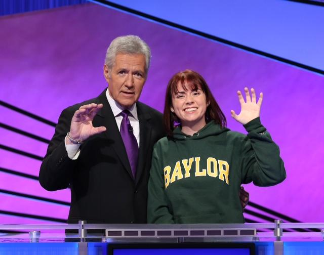 Baylor University student Taylor Roth competed in Jeopardy's College Championship.