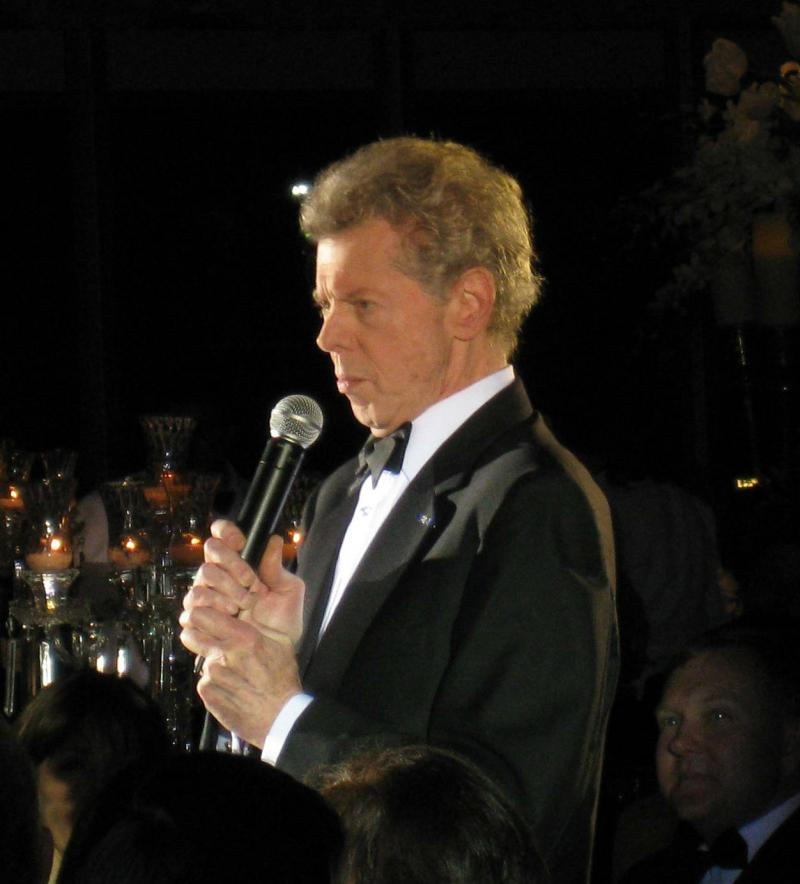 Van Cliburn, at the Fort Worth banquet honoring the 50th anniversary of his Tchaikovsky Competition victory. One thousand attended, including Russian dignitaries, Cliburn gold medalists, and U.S. Ambassadors