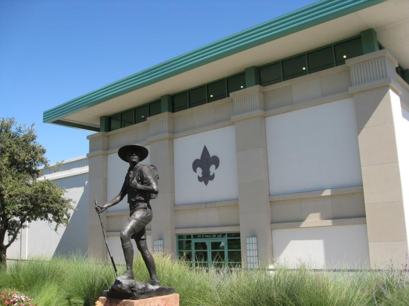 The Boy Scouts of America museum (shown), adjacent to the National Headquarters, in Irving, Texas.