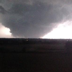 Cleburne resident Ciara Arnold posted this look at the tornado that blazed through town last night.