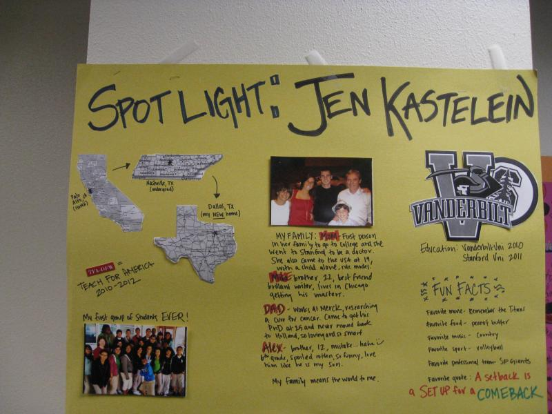 "Fellow Jennifer Kastelein ""poster"" at the Leadership Academy"