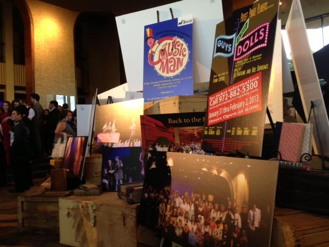 The lobby was decked out with posters and memoribilia tied to the shows of all participating high schools.