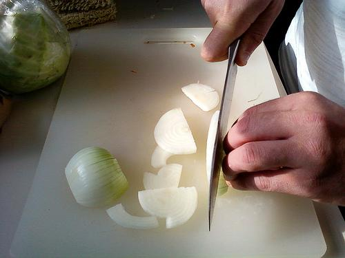 Michael Pollan used to hate chopping onions. It's become a Zen experience for him.