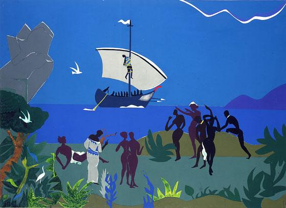 Romare Bearden reimagined Homer's 'The Odyssey' with work like 'Siren's Song' (1977).