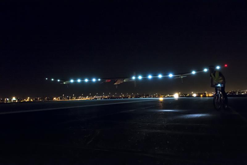 Solar Impulse landing.