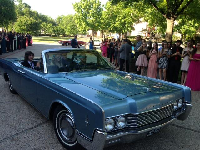 Vintage convertibles delivered excited nominees to the Music Hall at Fair Park.