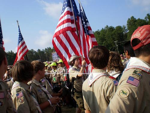 Boy Scouts at their National Jamboree in 2010