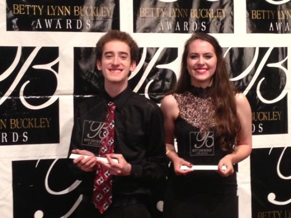 Ben Allen won the Buckley Award for Best Male Actor and Sarah Roach took the Buckley for Best Female Actor