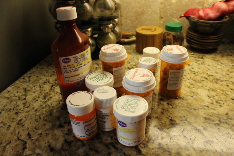 McCool-Heimsath has tried dozens of prescriptions to treat her acid reflux. At her Plano home, she pulls down some of the pill bottles she used to turn to daily before the LINX procedure.
