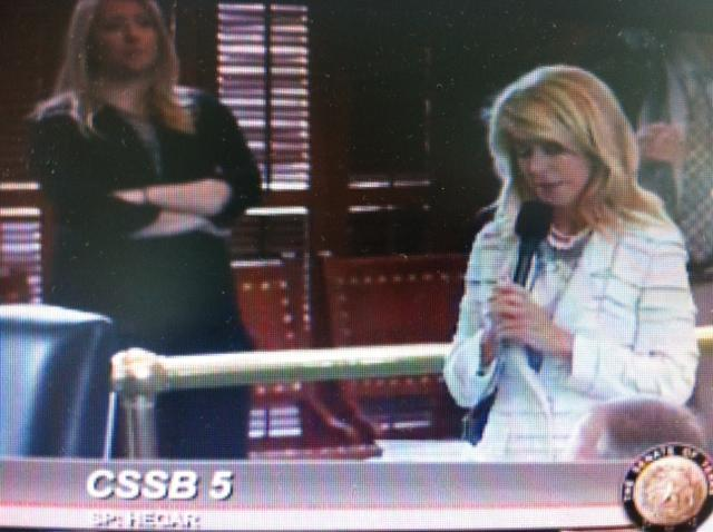 State Sen. Wendy Davis, D-Fort Worth, begins what she hoped would be a 13-hour filibuster a package of restrictive abortion laws.