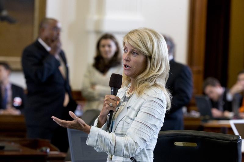 Sen. Wendy Davis in the Texas Senate.