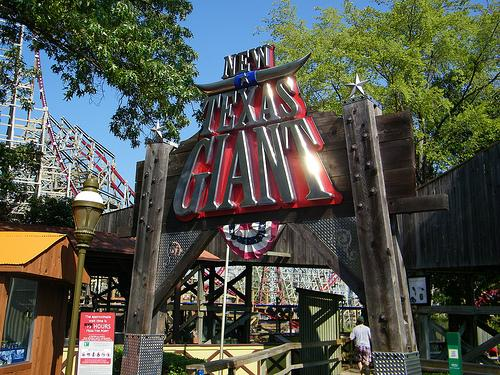 The Texas Giant rollercoaster was redone in 2011 as part of the park's 50th anniversary.
