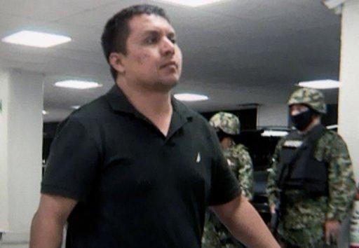 A photo taken from video released by the Mexican Navy of Miguel Angel Trevino Morales.