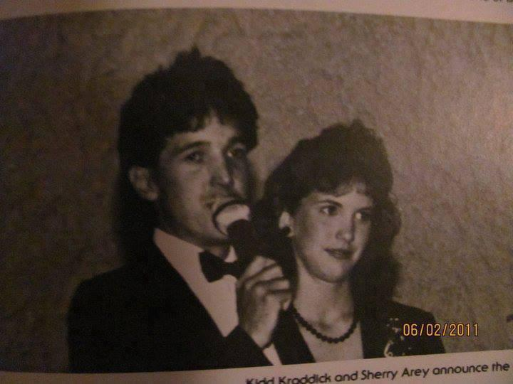 "Nationally syndicated radio host David ""Kidd"" Kraddick in 1986 at the Lakeview Centennial High School prom. Many North Texans grew up listening to him."