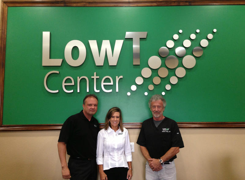 Mike Sisk, Founder and President of Low T Center, with his wife Mickala Sisk, and Dr. Bill Reilly, Chief Medical Director.
