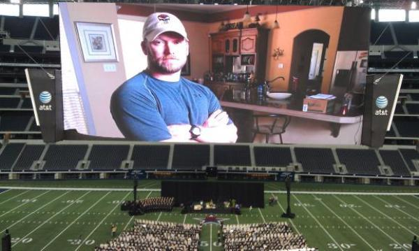 Thousands attended Kyle's memorial service at Cowboys Stadium.
