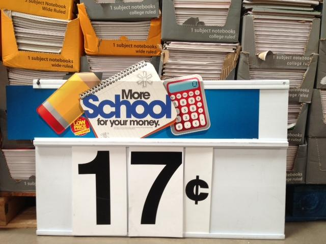 Spiral notebooks are on sale for less than a quarter at Wal-Mart.