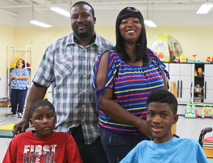 A (partial) family protrait: Parents Louis and Clarice Boyd and their boys Louis Jr. (left) and Chance. Chance also has an older brother, Robert, 16, and two younger sisters, Kenyah, 14, and Leasia, 11.