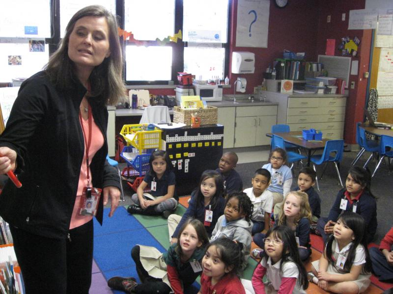 Irving kindergarten teacher Sheryl Dennehee began last school year with 35 children in her class.  The district expects elementary classes to be full this fall.