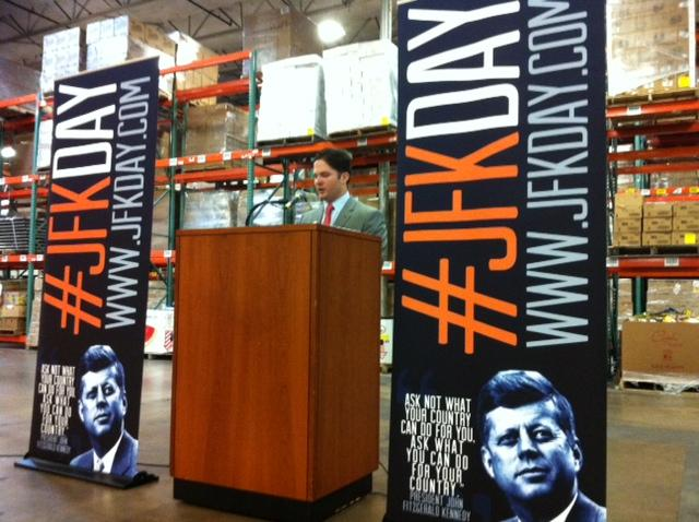 Chart Westcott announces JFKDay website and launch of volunteer sign-up for the Nov. 23 day of service.