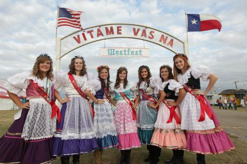 Miss WestFest contestants at WestFest 2012.
