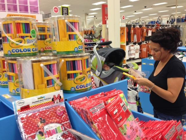Emily Carter is happy to scope deals at Target, but would rather avoid tax free weekend.