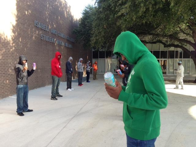 Students representing Trayvon Martin