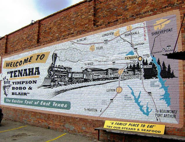 Tenaha is located in east Texas, near the Louisiana border.