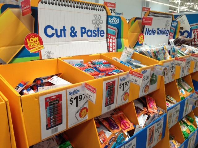 Wal-Mart rolled back prices on school supplies prior to tax free weekend.