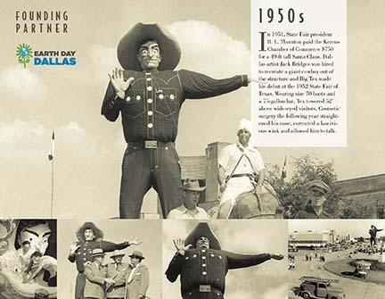 The 1950s panel that appears at the new Big Tex Circle.