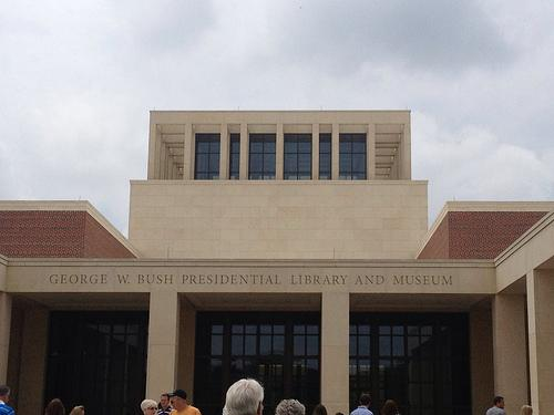 If the federal government shuts down, don't plan on visiting the George W. Bush Library.