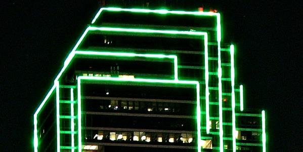 The Bank of America Plaza will get new-and-improved lighting.