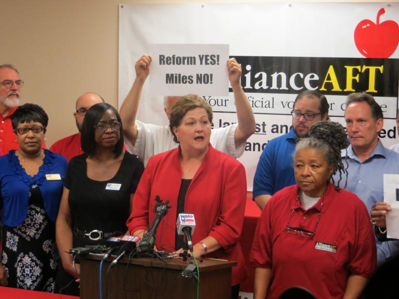 Alliance AFT President Rena Honea says this is the first time in more than 35 years her teachers' group has called for the firing of a superintendent.