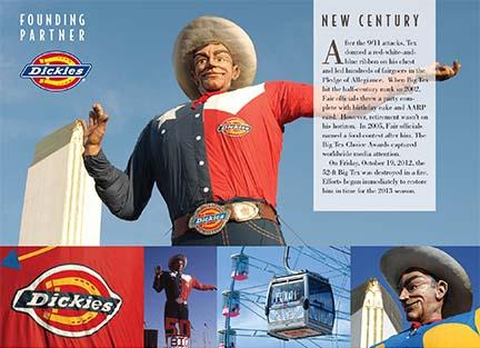 Several graphic panels surround the new Big Tex, offering fairgoers more photo ops.