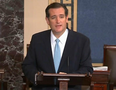 Sen. Ted Cruz talked 21-hours calling for lawmakers to defund Obamacare.