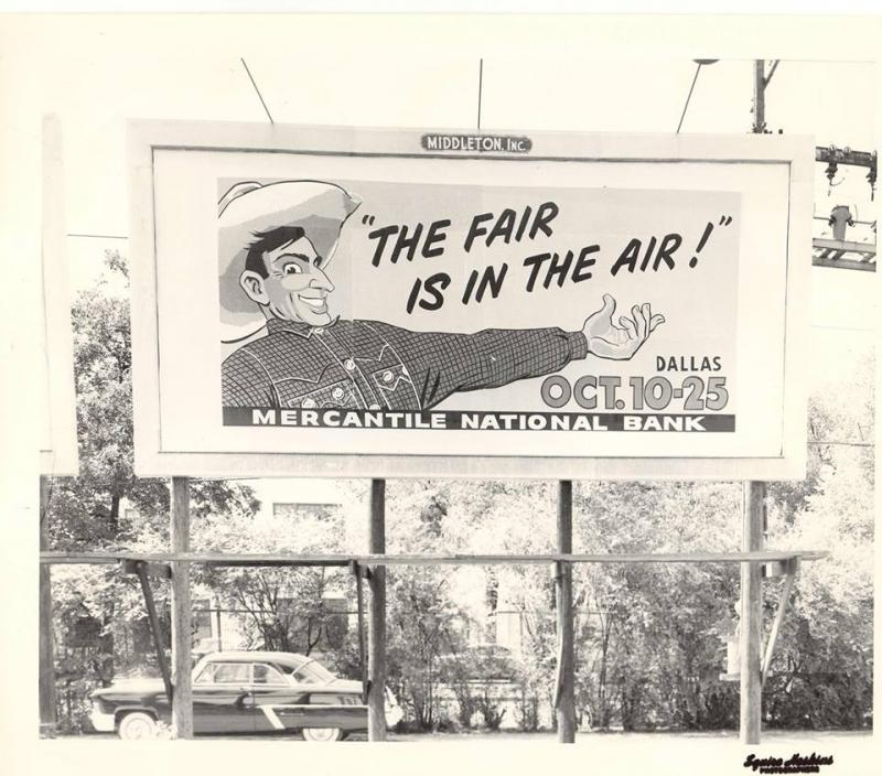 Big Tex has been used in countless advertisements, including this one in 1953.