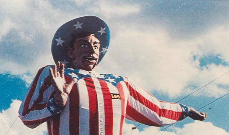 Big Tex got patriotic in 1975, a year before the country's bicentennial.