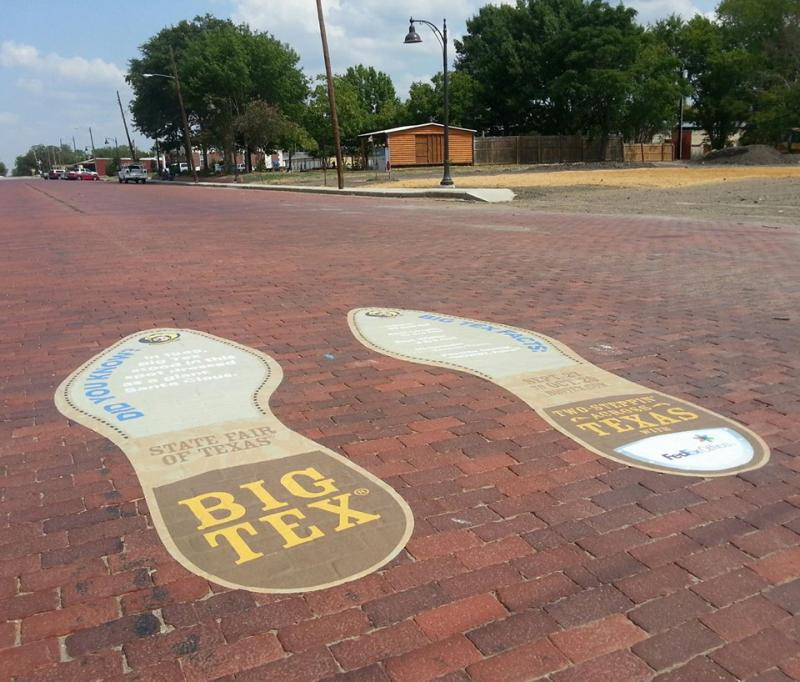 Big Tex's bootprints appeared in Kerens last week.