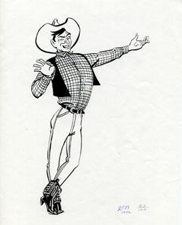 One of the earliest drawings of Big Tex.