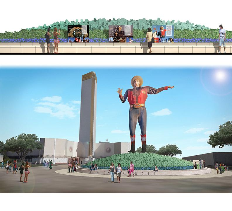 An artist's rendering of the Big Tex Circle improvements.