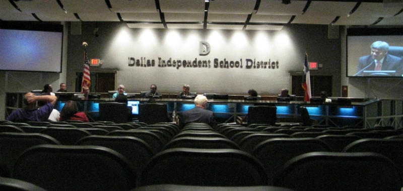 The Dallas School Board, on the night Paul Coggins delivered initial findings of his investigation into allegations against Superintendent Miles
